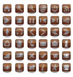 Web icons set vector