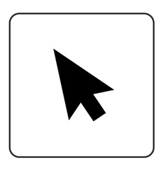Arrow pointer sign black vector