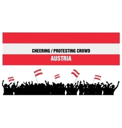 Cheering or protesting crowd austria vector