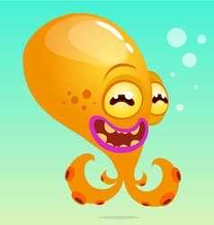 Cute cartoon octopus vector image