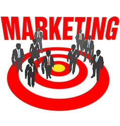 Business people team target marketing vector