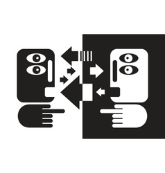 Black and white conversation vector image