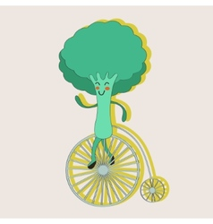 Broccoli on a wheel vector