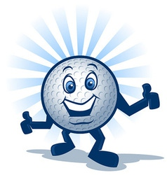 Golf ball character vector