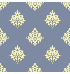 Sparse pattern of seamless victorian styled floral vector image