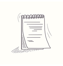 Sketched notebook desktop icon vector