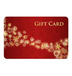 Exclusive red christmas gift card with stream of vector