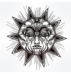 Vintage style shiny star symbol vector
