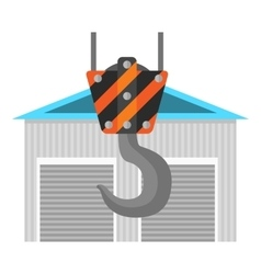 New warehouse flat icon vector