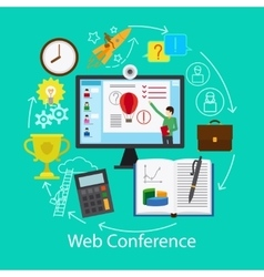 Web conference concept vector