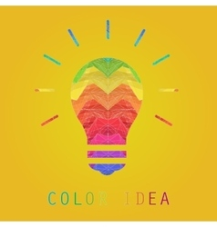 Creative edges color painting idea lamp vector