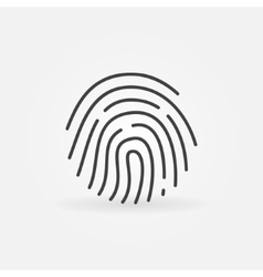 Fingerprint linear icon vector