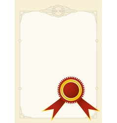 Diploma stamp vector