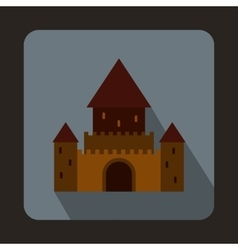 Chillon castle switzerland icon flat style vector