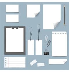 Collection of various papers paper sheets lined vector