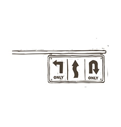 A traffic sign is indicated vector image