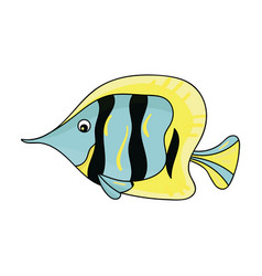 Angel fish icon in cartoon style isolated on white vector