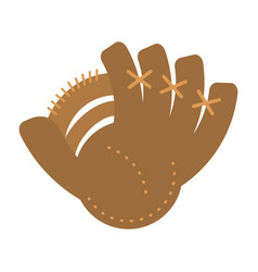 baseball glove sport icon vector image