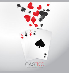 Casino background with playing cards and symbol vector