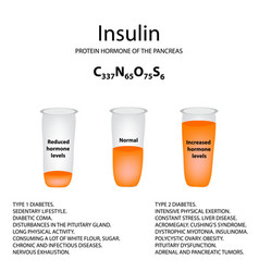 chemical molecular formula of the hormone insulin vector image