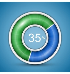 Circular progress bar vector image