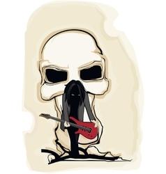 Dark guitarist vector