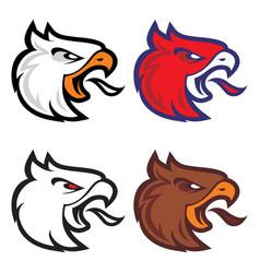eagle head sport logotype vector image vector image