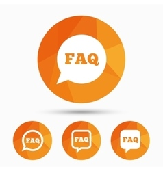 FAQ information signs Help speech bubbles vector image vector image