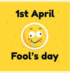 Fool day april holiday greeting card banner comic vector