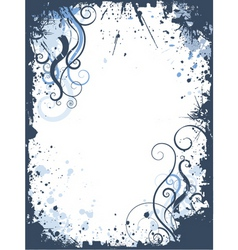 grunge swirls border vector image vector image