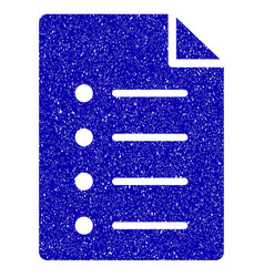 List page icon grunge watermark vector