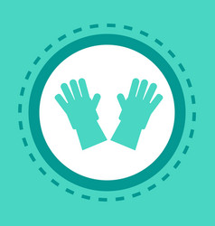 medical equipment gloves icon online consultation vector image