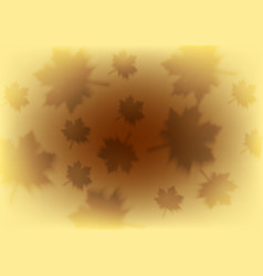 Orange autumn background with blurred maple leaves vector