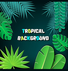 Paper cut tropical2-03 vector
