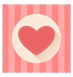 Red heart for Valentine s Day vector image