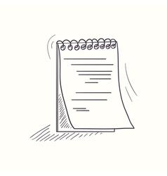 Sketched notebook desktop icon vector image