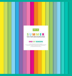 Summer colorful striped vertical line pattern vector