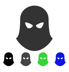 Terrorist balaklava flat icon vector