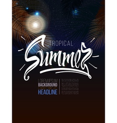 Tropical summer signscalligraphic vector image