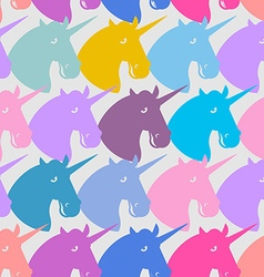 Unicorn seamless pattern blue fabulous beast with vector