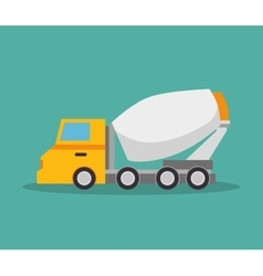 Mixer truck construction icon design vector