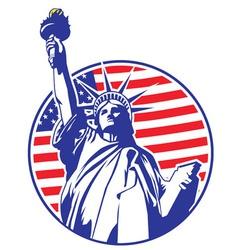 liberty statue vector image