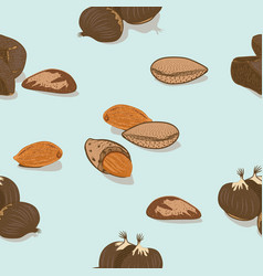 Colorful healthy seeds seamless pattern vector