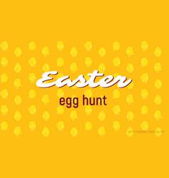 Easter egg hunt card seamless pattern vector