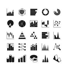 data bar graphic and statistics charts vector image