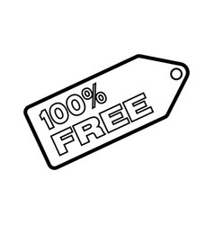 Thin line 100 free icon vector