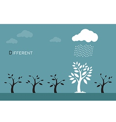 Trees clouds and rain vector