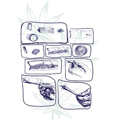 Marijuana joint preparing vector