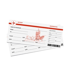 Air tickets vector