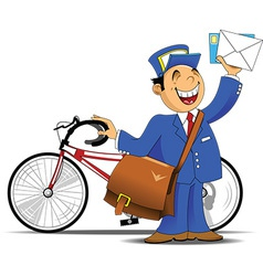 Postman cartoon vector